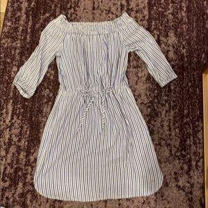 Tommy Hilfiger striped off shoulder dress